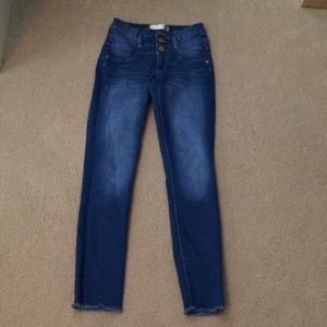 High waisted blue No Boundaries jeans